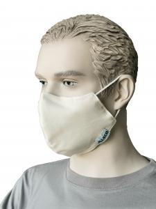 Mund-Nasen-Maske ALSCO CUP, Elastikband Ohr, creme, 100PES