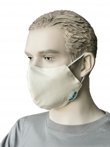 Mund-Nasen-Maske ALSCO CUP, Elastikband Kopf, creme, 100PES