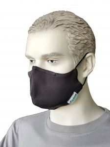 Mund-Nasen-Maske ALSCO CUP, Elastikband Kopf, anthrazit, 100PES