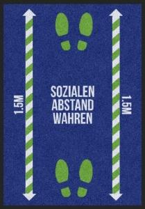 Matte -Hygiene- SOZIALEN ABSTAND WAHREN
