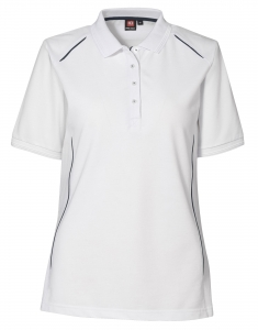 Damen-Polo-Shirt mit Kontastpaspeln