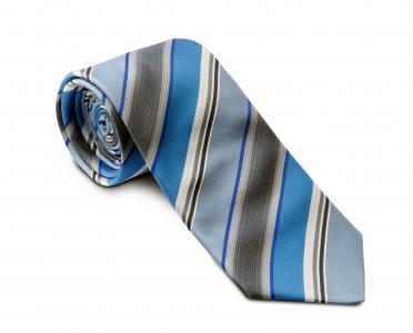 Krawatte blau-grau gestreift