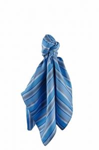 Tuch gewebt blau-grau gestreift