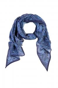 Schal bedruckt dunkelblau paisley