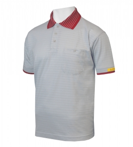 ESD Polo-Shirt CONDUCTEX Cotton Knit, 1/4A