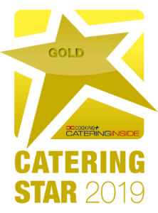 Also erhält den Catering Star 2019 in Gold