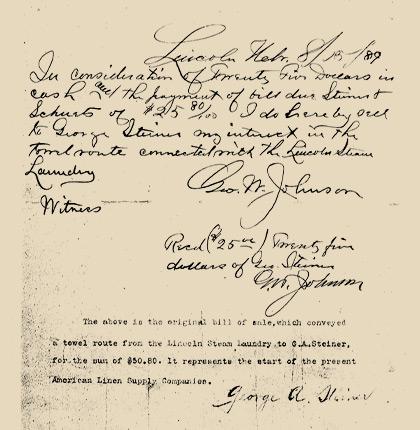 1889 - Geschiedenis begint