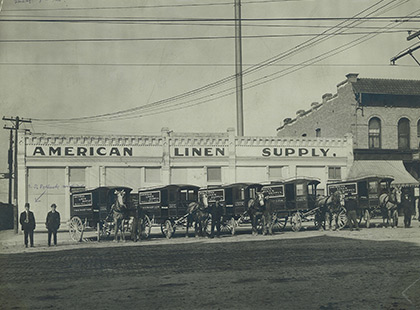 Geschichte 1910 - Erste eigene Wäscherei
