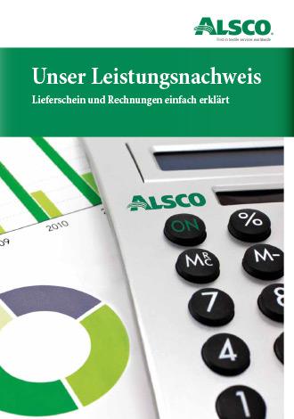 Broschüre Alsco Unser Leistungsnachweis