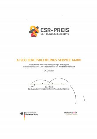 Auszeichnung CSR_PREIS_Nominierung_der_Bundesregierung_2013