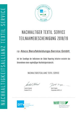 Nachhaltigkeits-Zertifikat